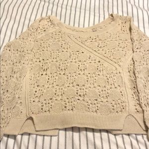 Anthropologie knitted and knotted small sweater
